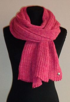 Pink Scarf  Icelandic Production by HuldaGK on Etsy