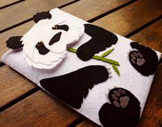 Funda iPad mini Case Oso Panda  Funda fieltro Kindle por LayonStore, €27.00
