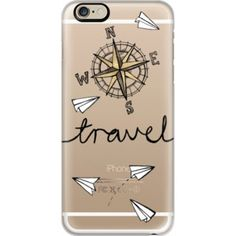 iPhone 6 Plus/6/5/5s/5c Case - Travel + Compass + Paper Planes on Clear