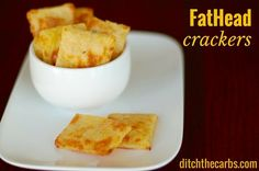 The best low carb cracker has just been invented - The Holy Grail of pizza has now become a cracker - fathead crackers. Grain free, cheesey heaven.