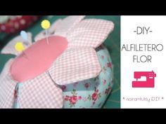 Tutorial de como realizar un Alfiletero flor (Patrones gratis) - YouTube