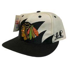 Vintage 90s Chicago Blackhawks Logo Athletic Sharktooth Snapback Hat Cap NWT  #LOGOATHLETIC #ChicagoBlackhawks Chicago Blackhawks Logo, Hats For Sale, Snapback Hats, Nhl, Design Inspiration, Athletic, Ebay, Vintage, Caps Hats