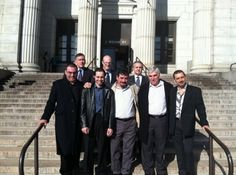 Elizabeth, N.J. – Five men walked out of the Union County courthouse $4 million richer this morning.