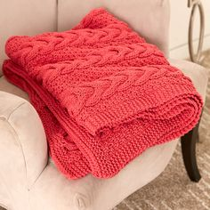Bernat® Maker Home Dec™ Cable Ready Blanket