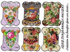 """Lovely heart things: decoupage card: """"bobbins for sewing. Haberdashery and flowers"""""""