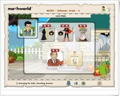 """""""Mathworld 6"""" (Lessons.e-learningforkids.org) Smart Board Activities, Learning Sites, Interactive Learning, Family Guy, Education, Math, Kids, Fictional Characters, Halloween Games"""