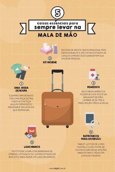 5 essential things to always carry in your hand luggage infographic Travel Checklist, Travel Planner, Travel Packing, Travel Essentials, Travel Guide, Au Pair, Hand Baggage, Autumn In New York, Life Is A Journey