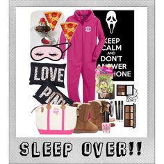 Sleep Over by marleylilly on Polyvore featuring H&M, UGG Australia, OPI and Polaroid