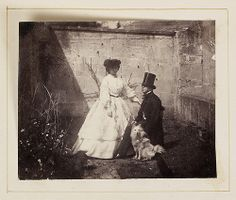 Calvert Richard Jones (seated) and a woman (possibly Portia Smith), and a white dog | Flickr - Photo Sharing!