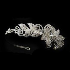 Dazzling Floral Side Accent Wedding Headband - Affordable Elegance Bridal -