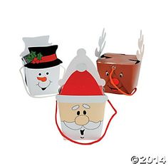 Cardboard Holiday Character Boxes - perfect for wrapping jewelry at on $0.10 each