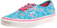 Vans x Hello Kitty Womens Authentic Lace up Shoe Ocean Blue Pink 5 ** Be sure to check out this awesome product.(This is an Amazon affiliate link and I receive a commission for the sales)