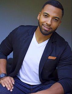 my heart Christian Keyes Christian Keyes, Sexy Men, Hot Men, Black Men, Beautiful Men, Hot Guys, Handsome, Blazer, Hair Styles