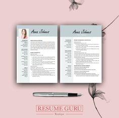 Teacher Resume Professional Resume Template Cover Letter | Etsy Simple Resume, Modern Resume, Best Resume, Resume Cv, Microsoft Word, Cover Letter Design, Resume Writing Tips, Cv Design, Success