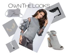 """""""Rawan Bin Hussain - Ruffle Sleeve Cold Grey Top"""" by ownthelooks on Polyvore featuring NARS Cosmetics, Kristin Cavallari, dresses, top, fashionblogger and ownthelooks"""