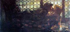Gaetano Previati - Romeo e Giulietta (Romeo and Juliet, Most Famous Artists, Salon Art, Italian Painters, Italian Art, Nature Images, Romeo And Juliet, Various Artists, Artwork, Beautiful
