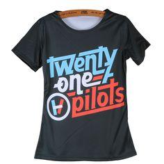 Womens Tops Twenty One Pilots Shirts Concert Tshirts