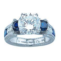 Plutus Svetlana Sterling Cubic Zirconia Couture Engagement Ring