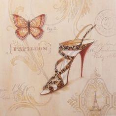 Carte d'art chaussures leopard sling stiletto  https://lc.cx/4PcB
