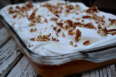 Pumpkin Crunch Cake.. The most perfect pumpkin dessert recipe you will ever find!!