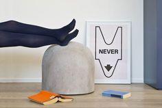 Bard Footstool Stool By Internoitaliano | Hub Furniture Lighting Living