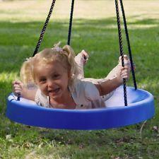 BLUE: FUN! & Safe! The Super Spinner Swing, Tire Swing, Tree Swing,Child Swing
