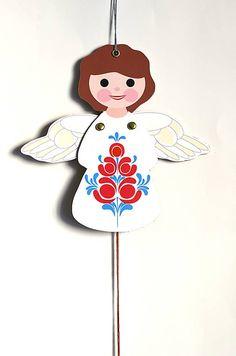 zazie.design / Hračka - Hopkáčik - Anjelik usmievavý... Minnie Mouse, Disney Characters, Fictional Characters, Christmas Ornaments, Holiday Decor, Design, Home Decor, Art, Art Background