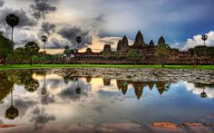 Magnificent view of Angkor Wat Temple, Cambodia.  For more information visit - http://www.guiddoo.com/