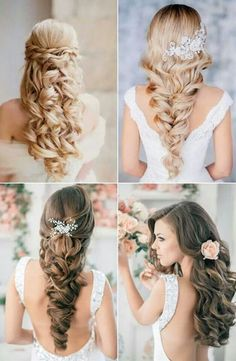 To let your hair down in the wedding may sound like not really fancy. But actually it is not. Letting your hair down is not neccessarly something without care. There are some hair styles which looks much more elaborate.