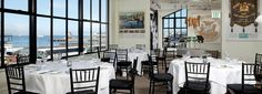 Bay view from one of several San Francisco event spaces available at Bistro Boudin