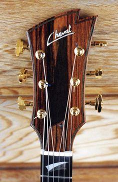 Cheval Guitars James Art headstock