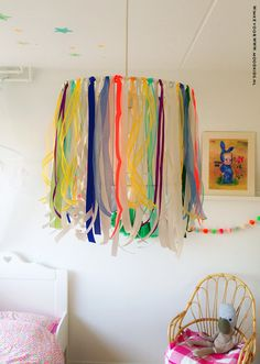 you could do this with ribbon for long term usage and could steam out the wrinkles from storage.