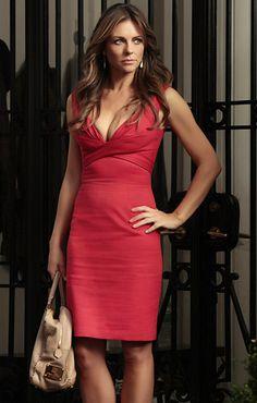 "Gossip Girl,' Season 5, Episode 2: ""Beauty and the Feast""DIANA PAYNE (ELIZABETH HURLEY) Dress: Alexander McQueen,  Bag: Analeena"
