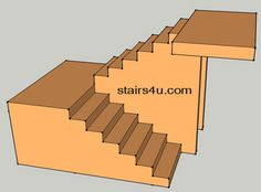 u shaped staircase | shaped design with walls under stairs U Stairs Design, L Shaped Stairs, Stair Storage, Staircase Storage, House Stairs, Stairs To Basement, Staircase Remodel, Outdoor Steps, Staircase Outdoor