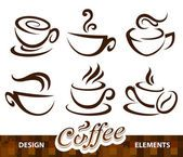 Vector verzameling van koffie ontwerpelementen — Stockvector