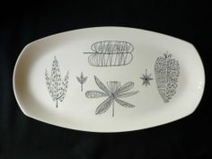MIDWINTER NATURE STUDY SANDWICH PLATE TERENCE CONRAN 1950'S