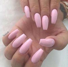 Nail Shapes - My Cool Nail Designs Acrylic Nails Natural, Light Pink Acrylic Nails, Soft Pink Nails, Summer Acrylic Nails, Best Acrylic Nails, Acrylic Nail Designs, Spring Nails, Baby Pink Acrylics, Pastel Nails