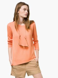 Massimo Dutti | Knit Sweater. Love this top. Terrific colour, great style, and effortlessly chic.