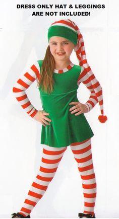 details about elf magic velvet christmas dress no leggings or hat dance costume child sizes