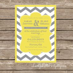 Chevron Wedding Invitation and RSVP design by lovelylittleparty