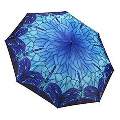 Galleria Stained Glass Dragonfly Folding Umbrella GALLERI...