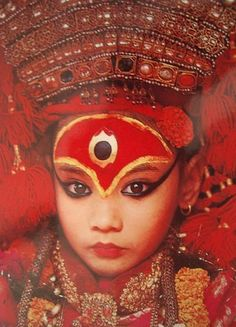 The Living Goddess; Kumari, or #Kumari #Devi, is the tradition of worshipping a young pre-pubescent girl as a manifestation of the divine female energy, or devi, in Indian subcontinental countries.