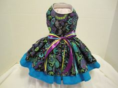Dog dress Blue and purple paisley XS   By by NinasCoutureCloset, $25.00