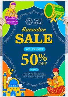 Ramadan Sale Poster Template AI, EPS Sale Poster, Lorem Ipsum, Ramadan, Poster Templates