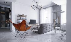Applying Luminous Loft Design To Make Your Apartment Becomes Shining And Brilliant Unique House Design, Cool Apartments, Loft Design, Butterfly Chair, Beautiful Space, Apartment Design, Simple Designs, Small Spaces, Home Goods