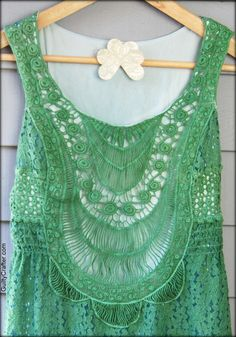 Kelly Green Rit Dye- St. Patrick's Day Dress Makeover by Ritster Angela Daniels aka The Guilty Crafter.