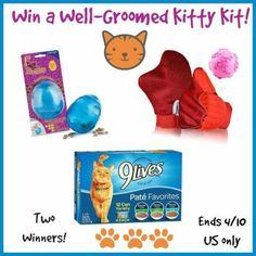 #Win a Well-Groomed Kitty Kit! - ends 4/10 US Only