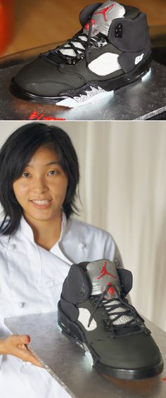 Air Jordan Retro 5 Sneaker Cake