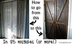 Barn pantry doors, in 85 mistakes (or more! Mistakes, Pantry, Barn, Doors, Diy, Kitchen, Closet, Pantry Room, Butler Pantry