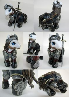 My second sculpted Lord of the Rings pony. (At this rate, of two a year, I'll have most of the major characters done by 2014) The sculpting material is Apoxie Clay, the paint is Testors acryli...